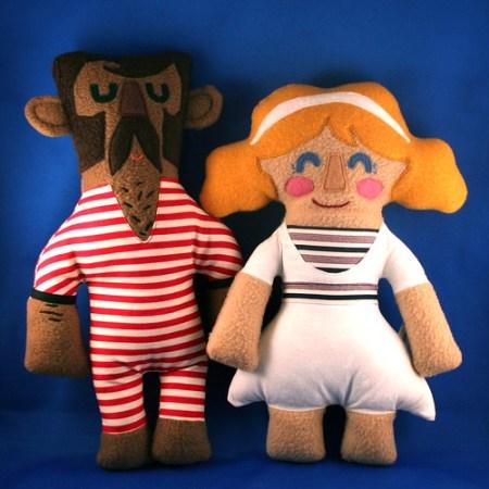 Old Timey Bathers Cecil & Amelia