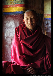 Jeune moine à Karsha