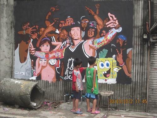 Whoop whoop street art in Manila, Philippines. Vanilla Ice street art, The gathering of juggalos