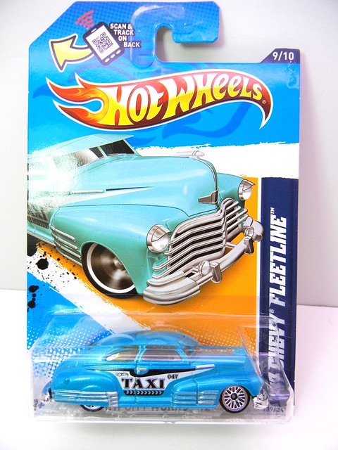 hot wheels '47 fleetline taxi teal (1)