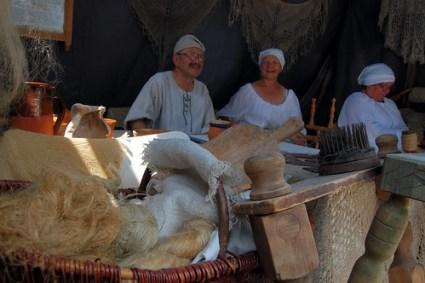 Burgfest Castle Festival ~ spinning yarn