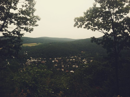 View of Woodstock from Mount Tom