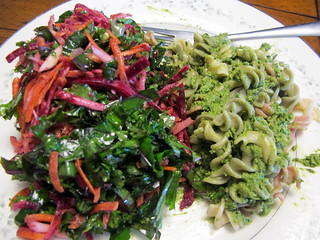 Beet Salad and Pesto Pasta