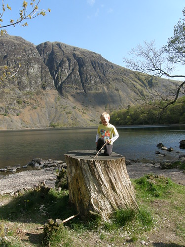 Posing in front of the Wastwater Screes