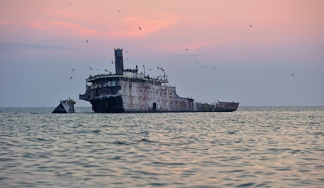 """Graveyard Shoals""  Wreck of the SS Francisco Morazan, South Manitou Island Sleeping Bear Dunes National Lakeshore"