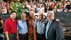 UH aministrators and special guests attending UH Hilo's graduation ceremony, from left,  Jerry Chang, Representative Clift Tsuji, Patrick Guillen, Gerald DeMello and Representative Richard Onishi.