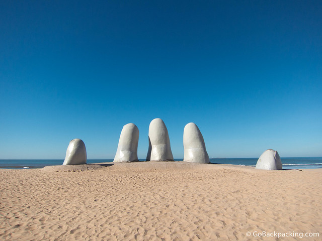 Everyone who visits Punta del Este gets a photo taken with the giant hand