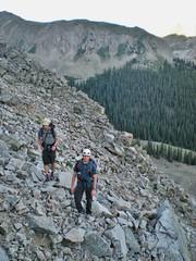 Doug and Slava Climbing Scree