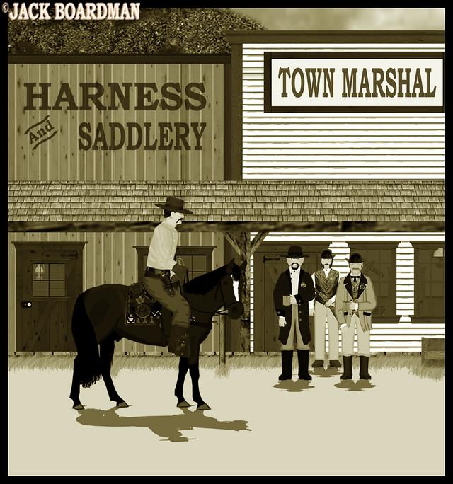 Wyatt Earp IV rode into Wichita ©2012 Jack Boardman