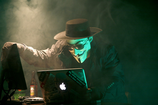 Photo:Anonymous Hacker By:dustball