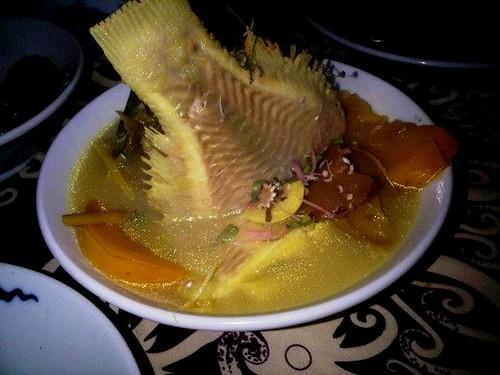 Asam tilapia with terung Dayak @ The.Dyak Restaurant
