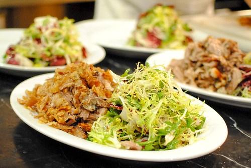pork shoulder with salad