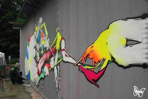 DMV mural - Mantes La Jolie