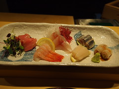 Finished plate - Sashimi