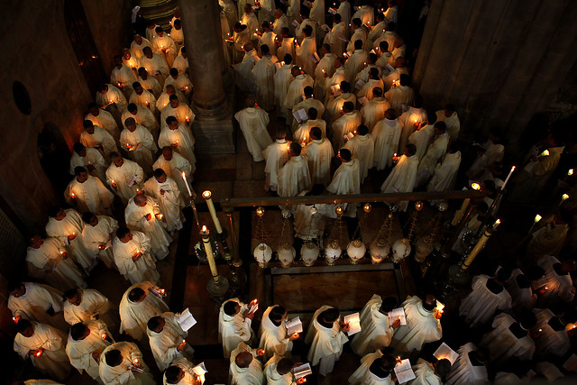Holy Thursday Mass at the Church of the Holy Sepulchre