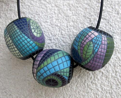 mosaic beads by Pavla Cepelikova
