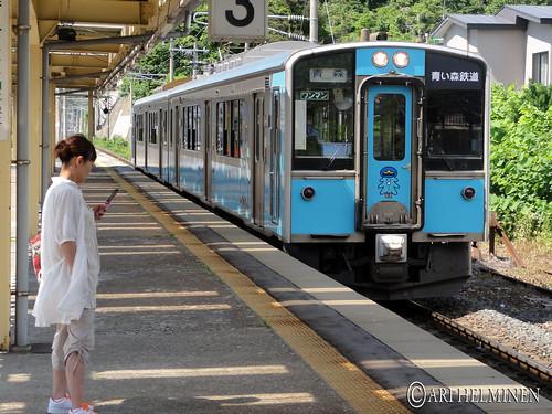 Asamushi trian station 浅虫駅