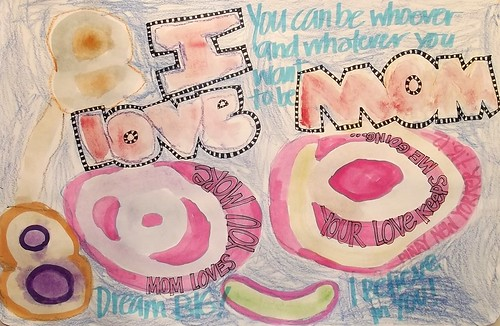 Art Journal Every Day with Angelo: I love Mom