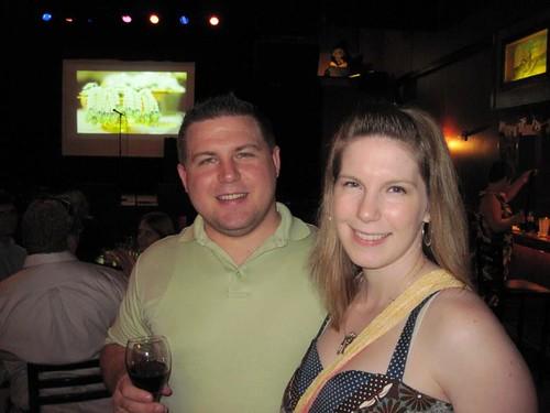 jess and john at aaron's wedding