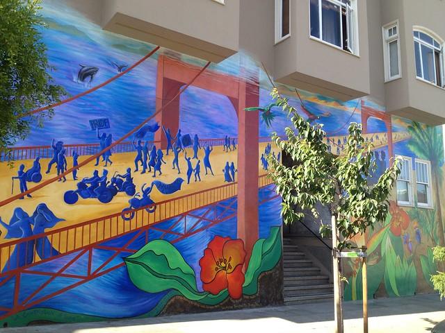 Golden Gate Bridge mural