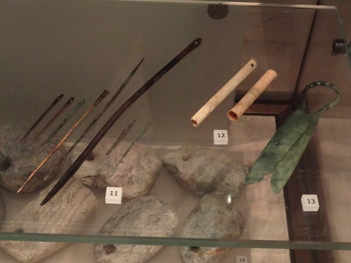 Bronze needles and bone cases