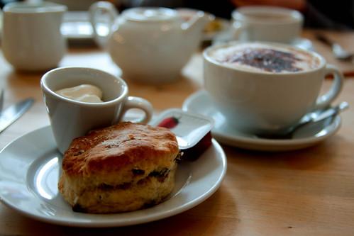 scones with jam and cream. yum!
