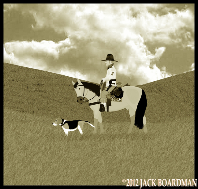 Daisy's tail returned to wagging on the trail ©2012 Jack Boardman
