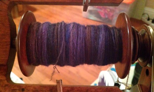 Tour de Fleece day 13 - bobbin 2 finished by Miss Knotty