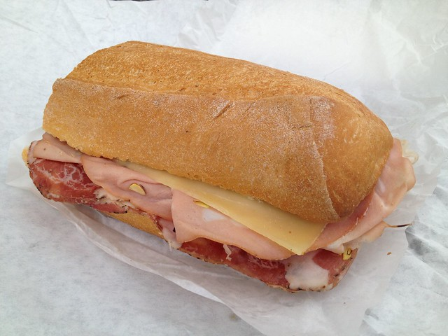 Coppa, mortadella and Swiss sandwich - Lucca Ravioli Company