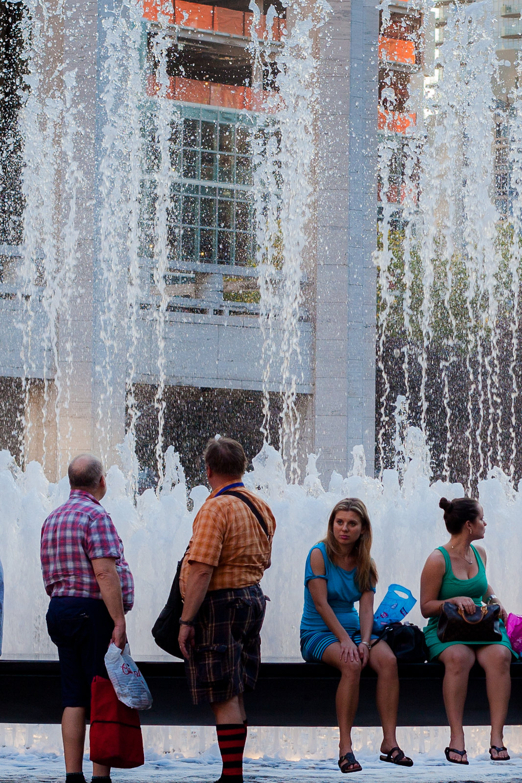 Watching the water dance in the fountain... by wwward0