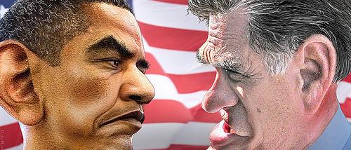 obama vs. romney by TimeTurnerGirl