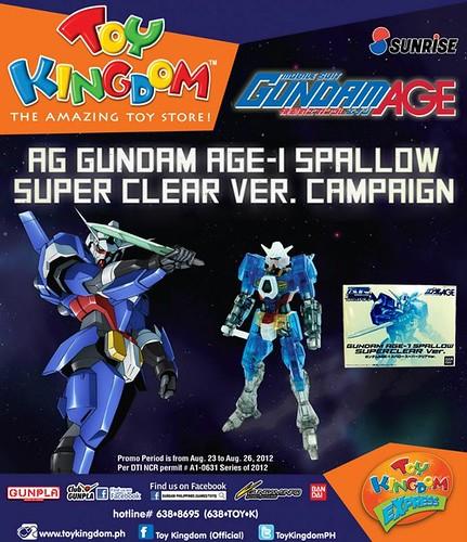 AG GUNDAM AGE-1 SPALLOW CLEAR VER PROMO