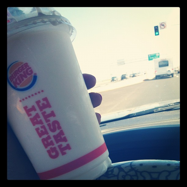 Mmmm, I haven't had a vanilla shake in forever! #BurgerKing