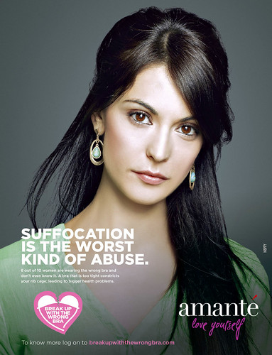 Amanté bra ad: Suffocation is the Worst Kind of Abuse""