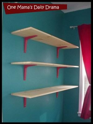 easy wall mounted shelves