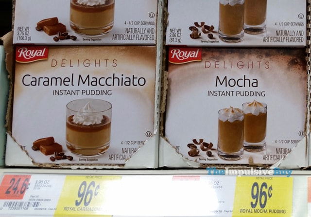 Royal Delights Caramel Macchiato and Mocha Instant Pudding