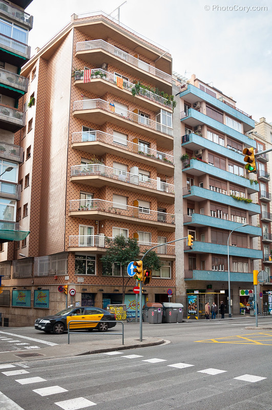 blocs of flats in Barcelona, Spain