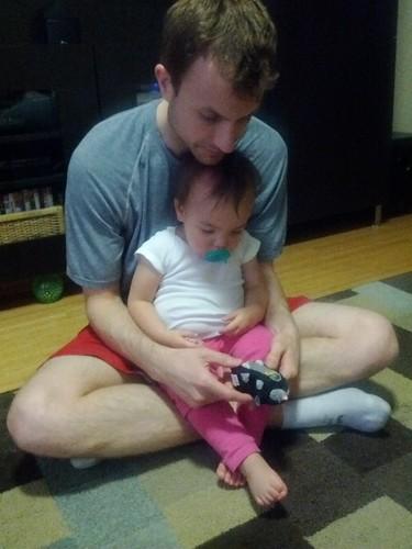Playing with the zhu zhu pet