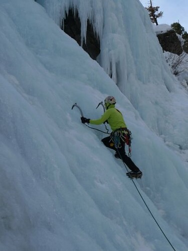 Doug Leading at Ouray Ice Park