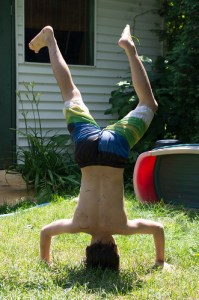 Colin's headstand!