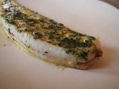 Detail: Slip sole in seaweed butter