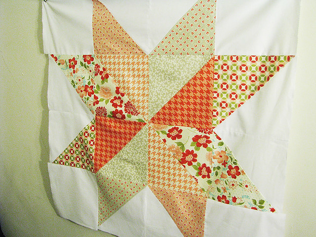 giant star quilt top