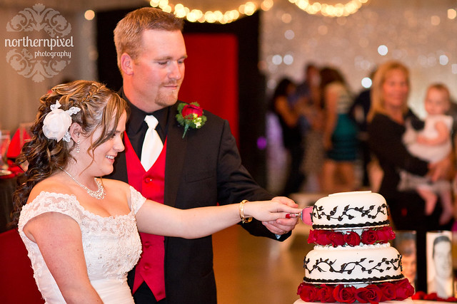 Cutting the Cake Wedding Reception
