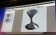 Bettina Nissan's 3D-printed ~Flow vase at CultureCode Hack.