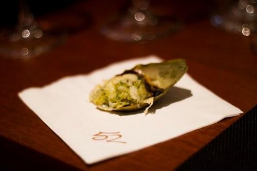 artichoke-stuffed artichoke leaves
