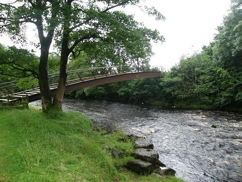 The 'new' bridge over the Irthing