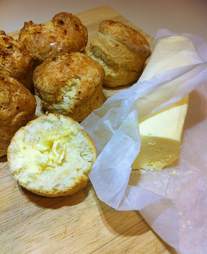 Homemade butter (& scones)
