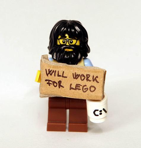 Will Work For LEGO by kockamania.hu