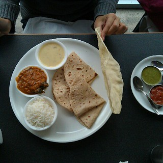 My friend went with the lunch thali