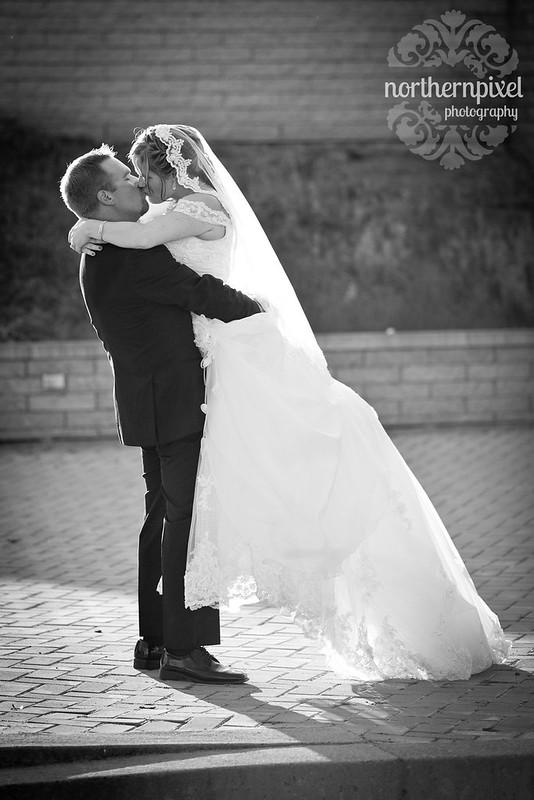 Melanie & Blake Wedding Kiss